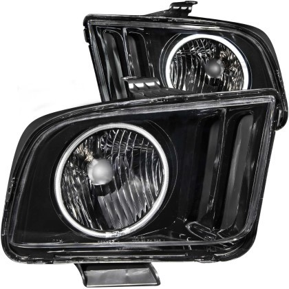 Anzo S197 Mustang Crystal Head lights w/ Halo Black (CCFL) (2005-2009)