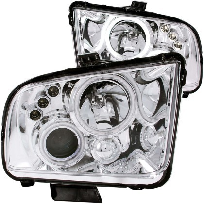 Anzo S197 Mustang Projector Headlight w/ Halo Chrome (2005-2009)