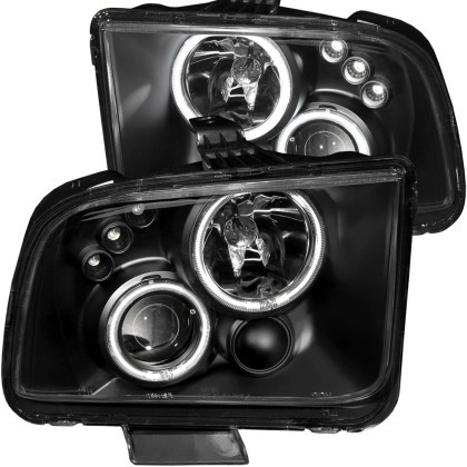 Anzo S197 Mustang Projector Headlight w/ Black (2005-2009)
