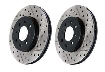 Stoptech Explorer Drilled & Slotted Rotor Front Left (2012-2019)