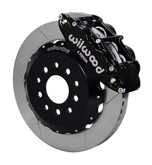 Wilwood Mustang Superlite 6R Front Brake Kit w/ 13 in. Slotted Rotors - Black (2005-2014)
