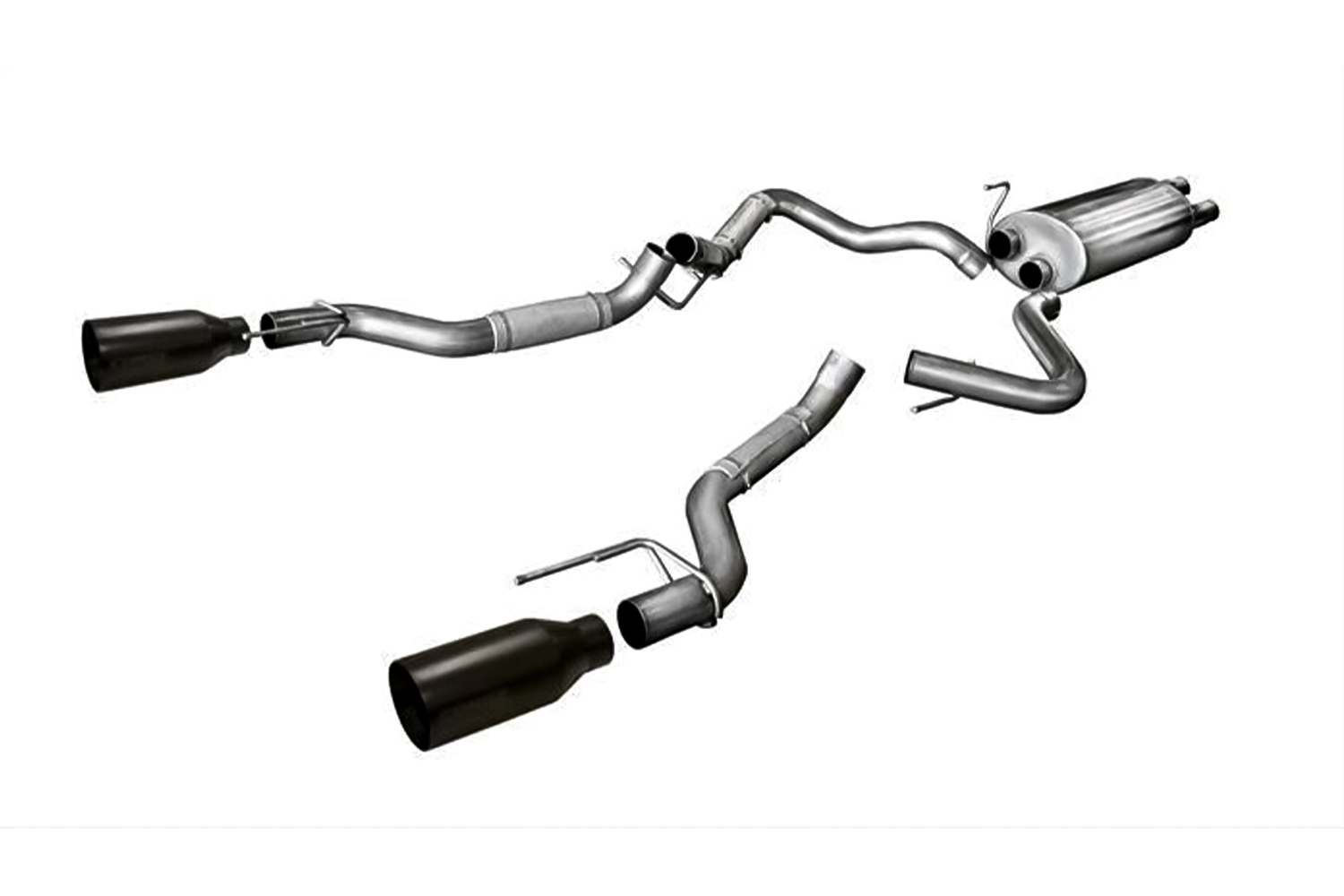 Corsa F-150 Raptor Sport Cat-Back Exhaust Dual Rear Exit  5