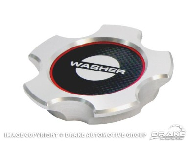Drake Mustang Washer Fluid Cap Cover Billet With Carbon Fiber Insert (2005-2014)