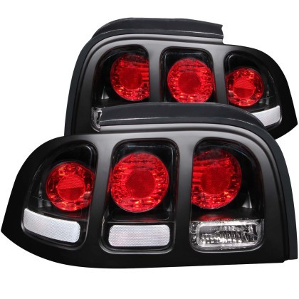 Anzo SN95 Mustang Taillights Black (1994-1998)
