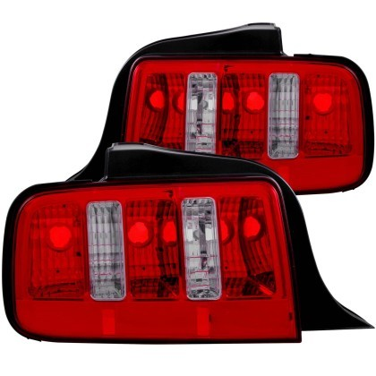 Anzo S197 Mustang Tail Light 2010 Style Red/Clear (2005-2009)