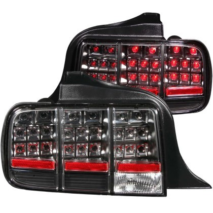 Anzo S197 Mustang LED Tail lights Black (2005-2009)