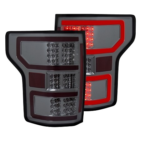 Anzo F-150 DRL Outline LED Tail Lights- Chrome w/ Smoked Lens (2018-2020)