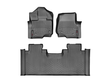 WeatherTech F-150 Super Cab w/ Front & Bench Rear Floor Liner Set (2015-2021)