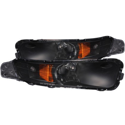 Anzo S197 Mustang Parking Lights Black w/ Amber Reflector (2005-2009)