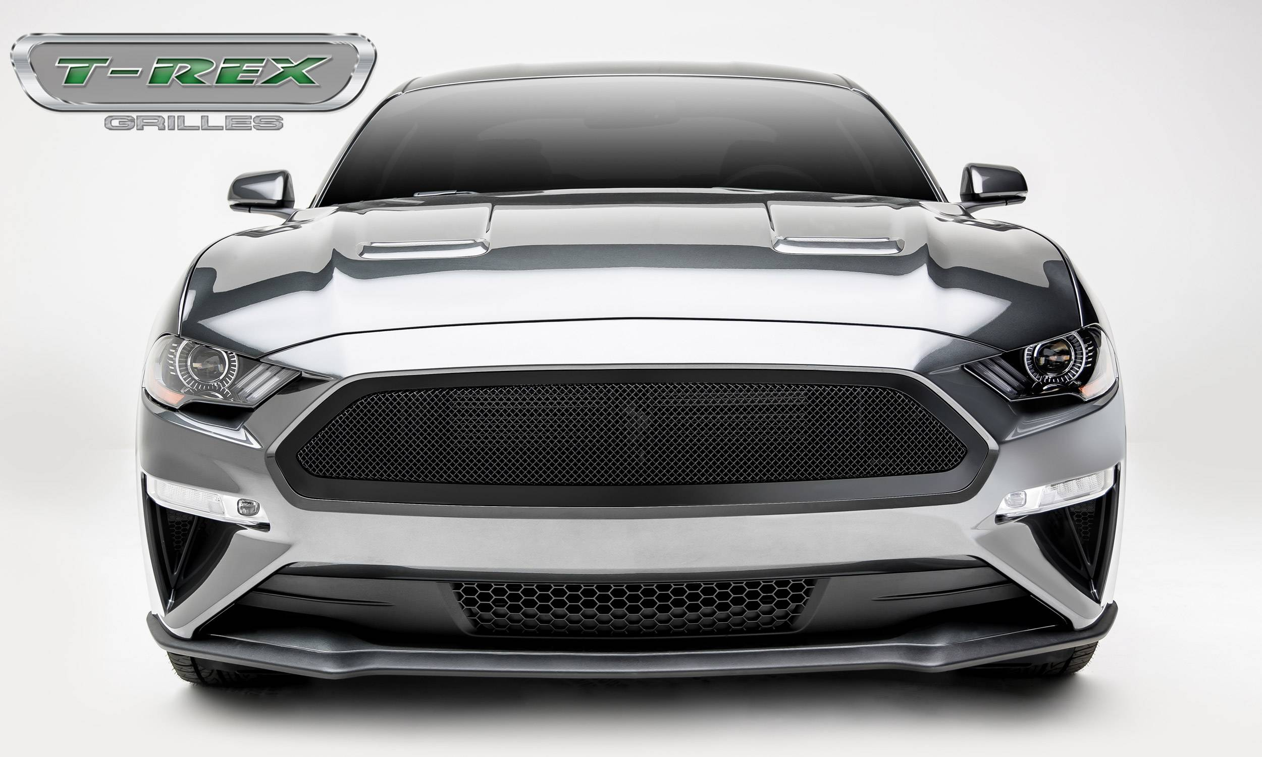 T-Rex Grilles Mustang GT - Upper Class Series - Main Grille, Insert Black Powder Coated Finish (2018-2021)