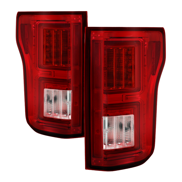 Spyder F150 2015-2017 Light Bar LED Tail Lights - Red Clear (not compatible with rear blind spot censor models)