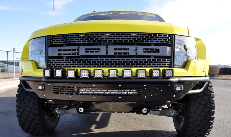 Addictive Desert Designs Raptor Race Series-R Front Bumper w/ Aluminum Valence & Cube Mounts (2010-2014)