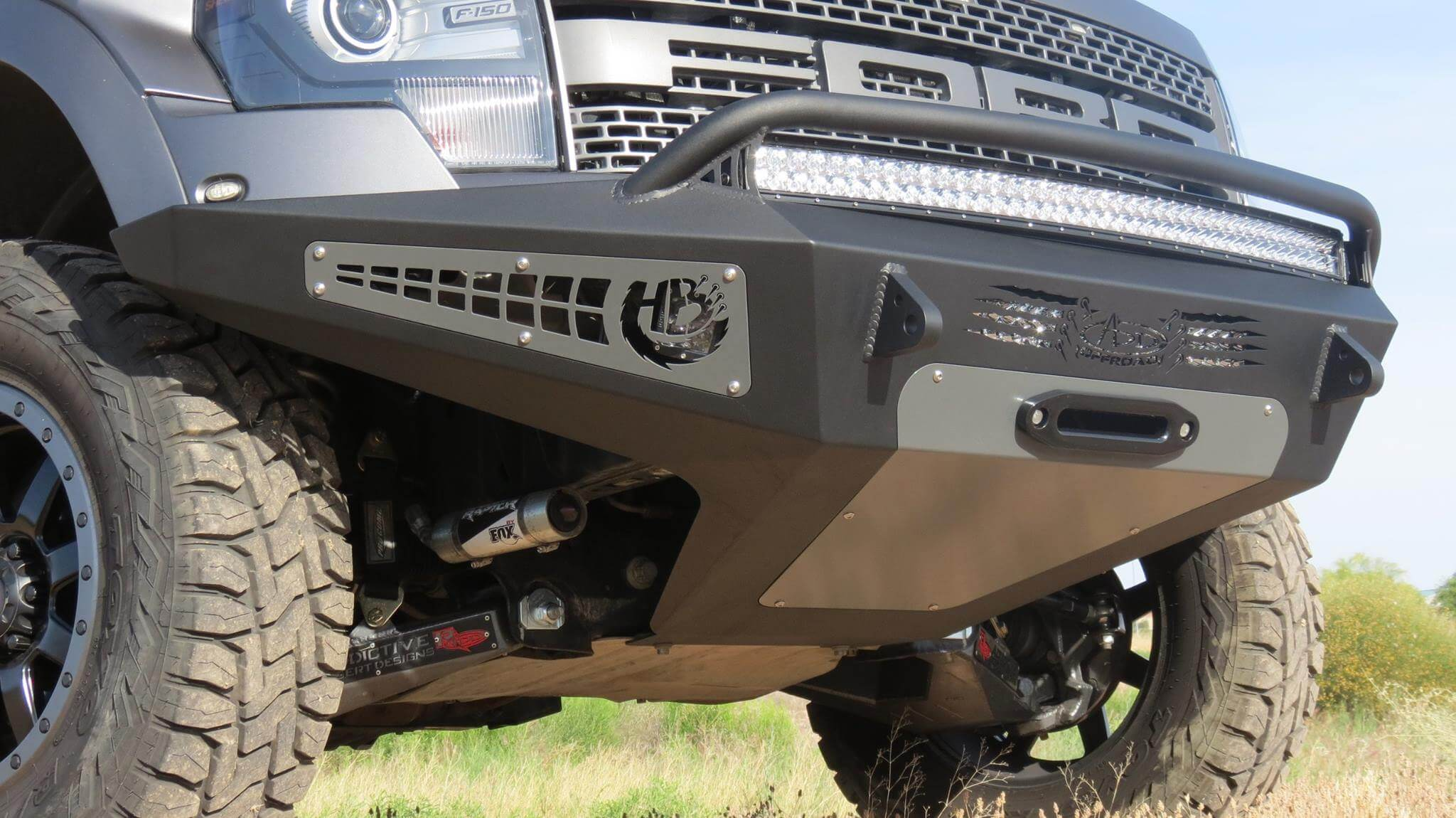 Addictive Desert Designs Raptor Honey Badger Winch Mount Front Bumper (2010-2014)