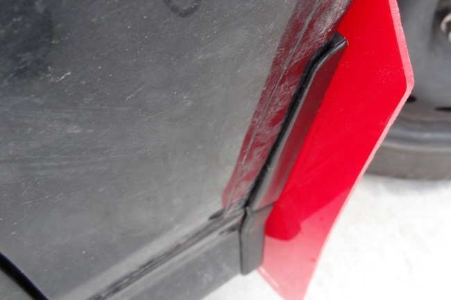 White Mud Flap with Logo Rally Armor MF29-UR-RD//WH Red 13+ Ford Fiesta ST