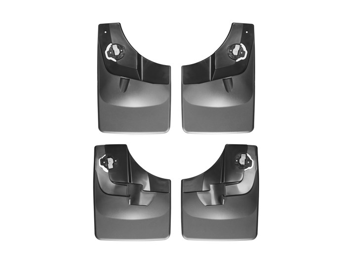 WeatherTech F-150 No Drill Front & Rear Mudflaps - Black (2015-2020)
