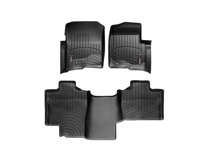 WeatherTech F-150 Super Cab w/ Front & Rear Floor Liner Set w/o 4x4 Floor Shifter (2004-2008)