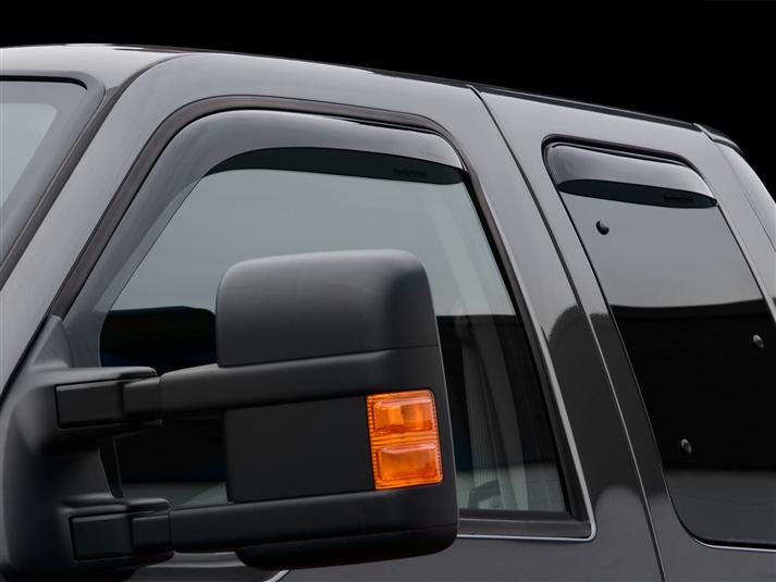 WeatherTech Front & Rear Dark Smoke Side Window Deflectors SuperCab SuperDuty Trucks (2009-2016)