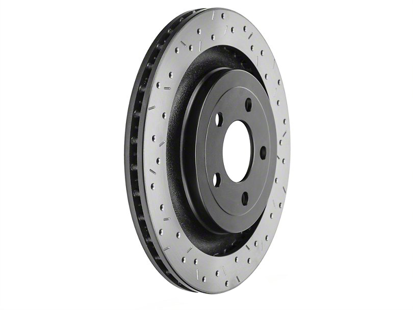 DBA Mustang 4000 Series XS Drilled & Slotted Front Rotor (16-17 RS)