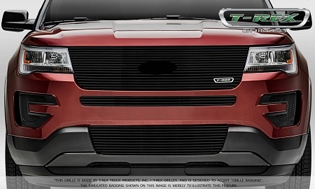 T-Rex Ford Explorer - Laser Billet Series - Replacement - Main Grille w/ Logo Recess Black (2016-2017)