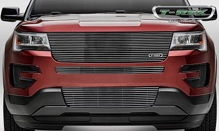 T-Rex Ford Explorer - Laser Billet Series - Replacement - Main Grille w/out Logo Recess Polished (2016-2017)