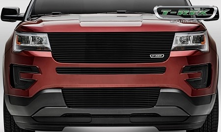 T-Rex Ford Explorer - Laser Billet Series - Replacement - Main Grille w/out Logo Recess Black (2016-2017)