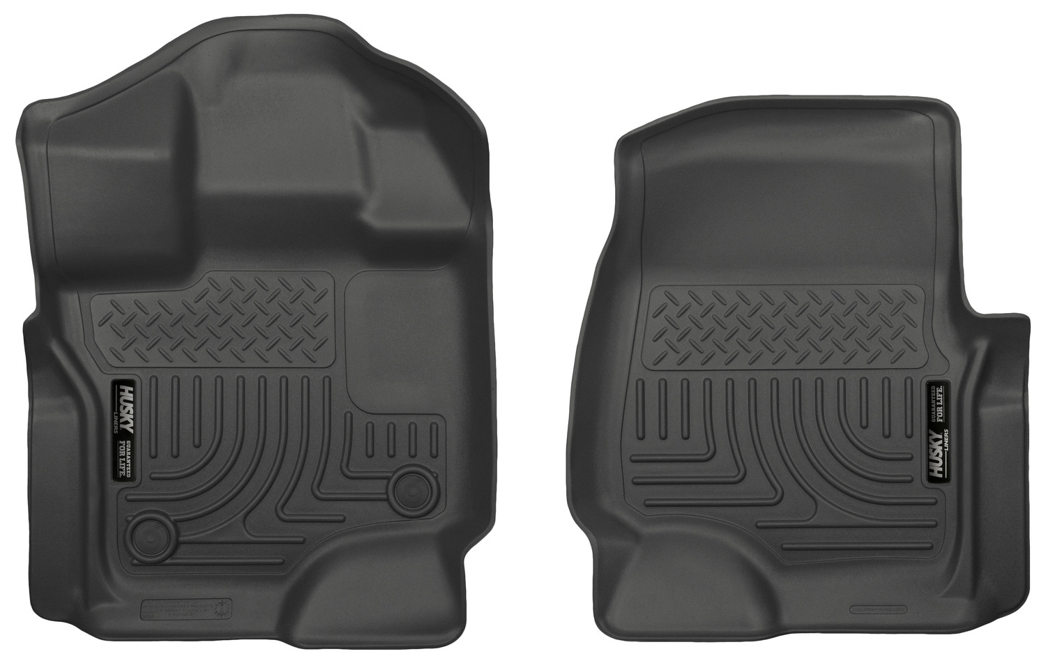 Husky Liners F-150 WeatherBeater Black Front Floor Liners - SuperCrew / SuperCab (2015-2021)