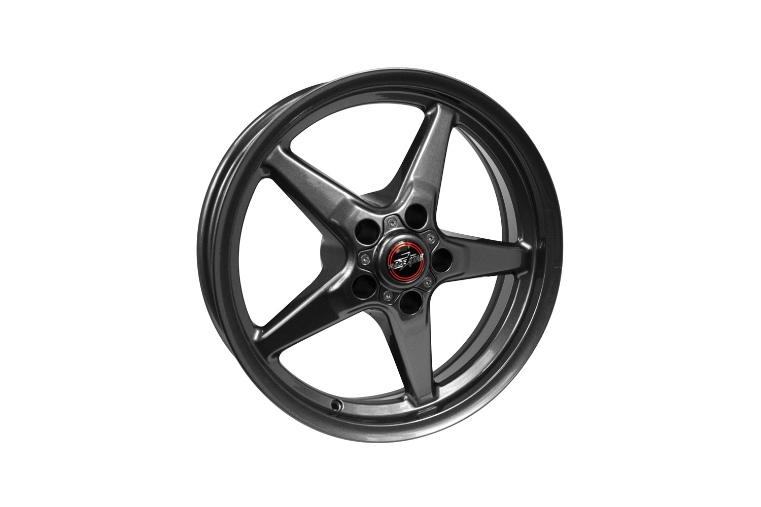 Race Star Wheels Mustang 92 Drag Star Bracket Racer Star Metallic Grey Wheel 15x3.75