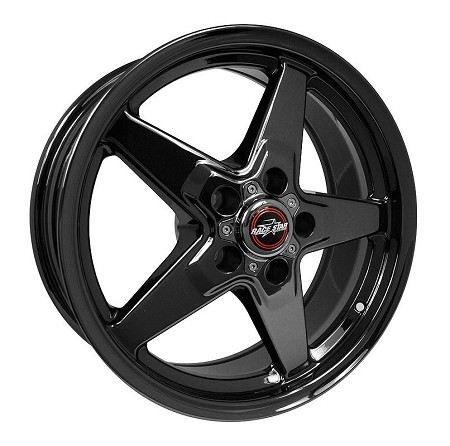 Race Star Mustang 17x7 Black Chrome 92 Drag Star Wheel (1979-2020)