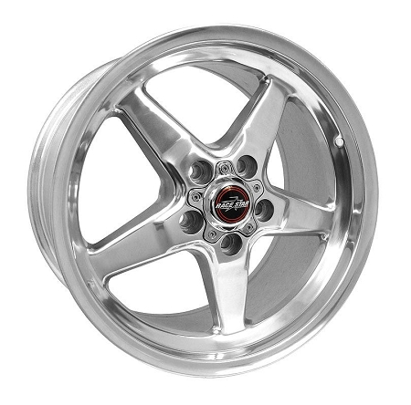 Race Star Mustang 92 Drag Star Polished Wheel - 17x9.5 (2005-2021)