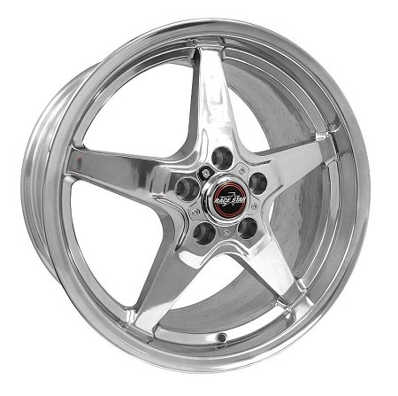 Race Star S197/S550 Mustang 18x10.5 Polished 92 Drag Star
