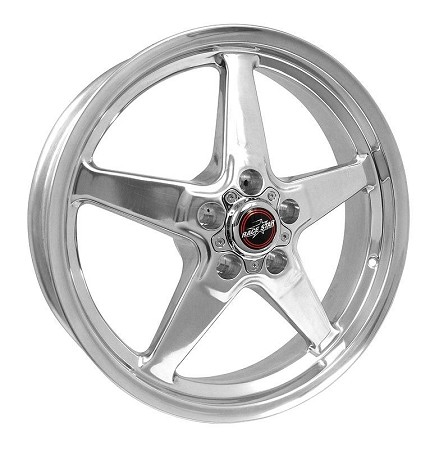 Race Star S197/S550 Mustang 18x5 92 Polished Drag Star Wheel (2005-2019)