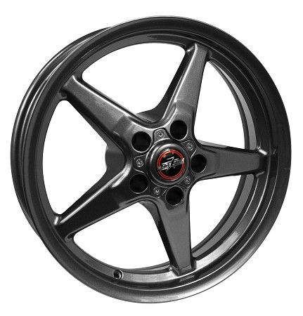 Race Star Mustang 92 Drag Star Metallic Gray Wheel - 18x5 (2005-2021)