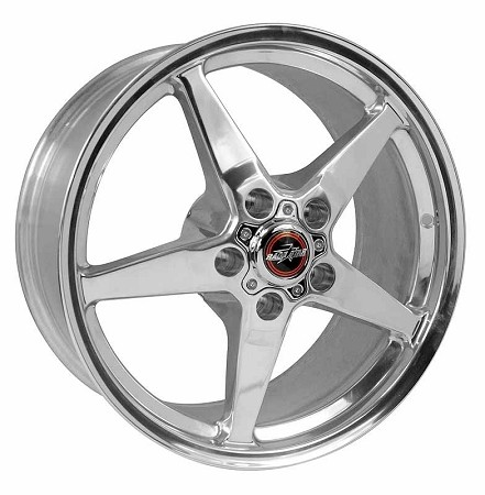Race Star Mustang 92 Drag Star Polished Wheel - 18x8.5 (2005-2021)