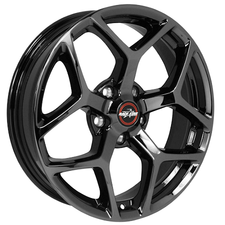 S550 Mustang 18x8 5 95 Recluse Black Chrome Wheel