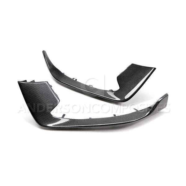 Anderson Composites Ford Mustang GT350 Carbon Fiber Front Bumper Inserts (2015-2018)
