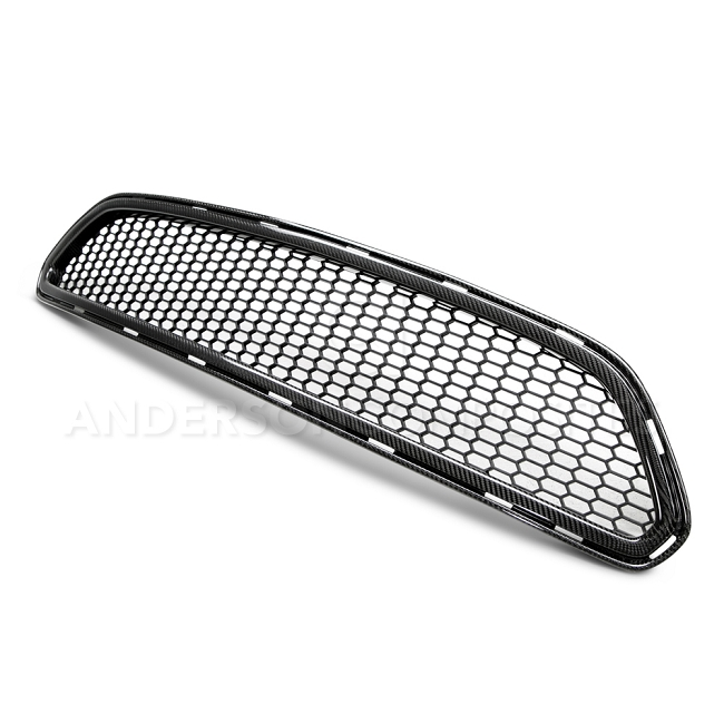 Anderson Composites Ford Mustang Type-AE Carbon Fiber Upper Grille (2015-2017)