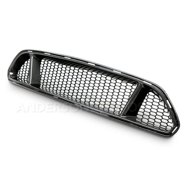 Anderson Composites Ford Mustang Type-GT Carbon Fiber Upper Grille (2015-2017)