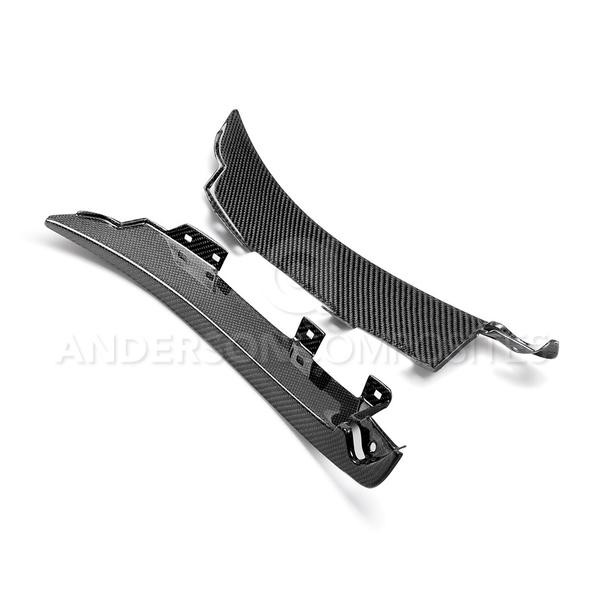 Anderson Composites Ford Mustang GT350 Carbon Fiber Front Splash Guards (2015-2018)