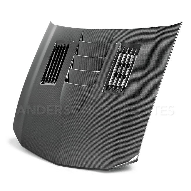 Anderson Composites Ford Mustang Type-SS Carbon Fiber Hood (2005-2009)