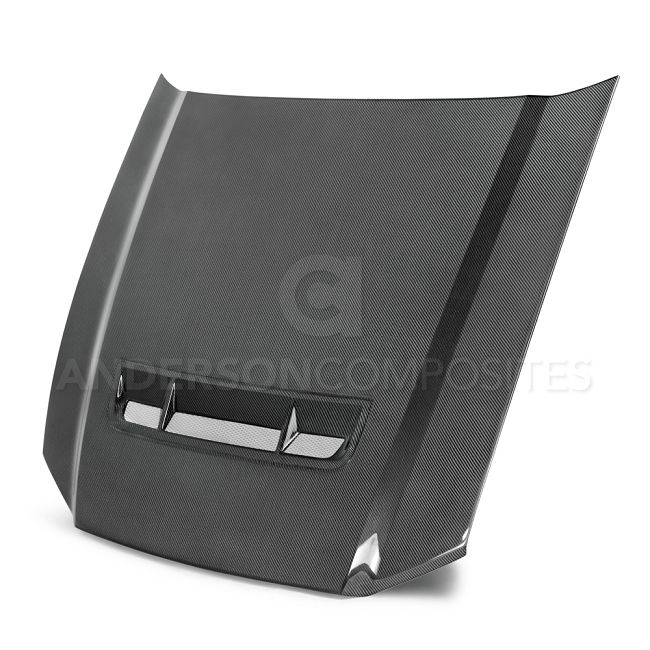 Anderson Composites 10-14 Ford Mustang GT500 and 13-14 GT / V6 Type-GT Carbon Fiber Hood  (2010-2014)
