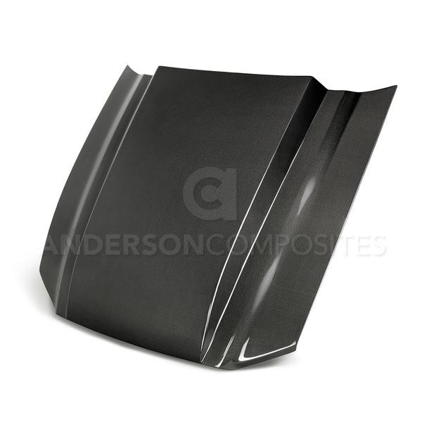 Anderson Composites Ford Mustang Type-CJ Carbon Fiber Cowl Hood (2013-2014)