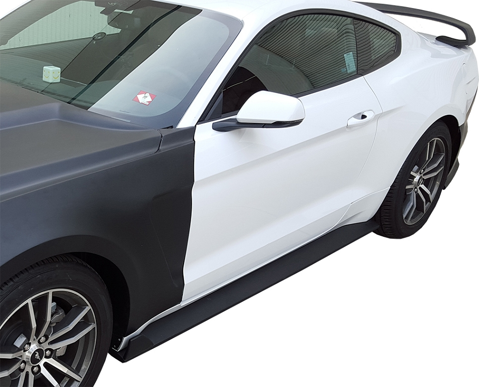Anderson Composites Ford Mustang Type-GR GT350 Style Fiberglass Side Rocker Panel Splitter (2015-2020)