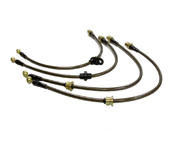 Agency Power Mustang Front Steel Braided Brake Lines (94-98 Cobra)
