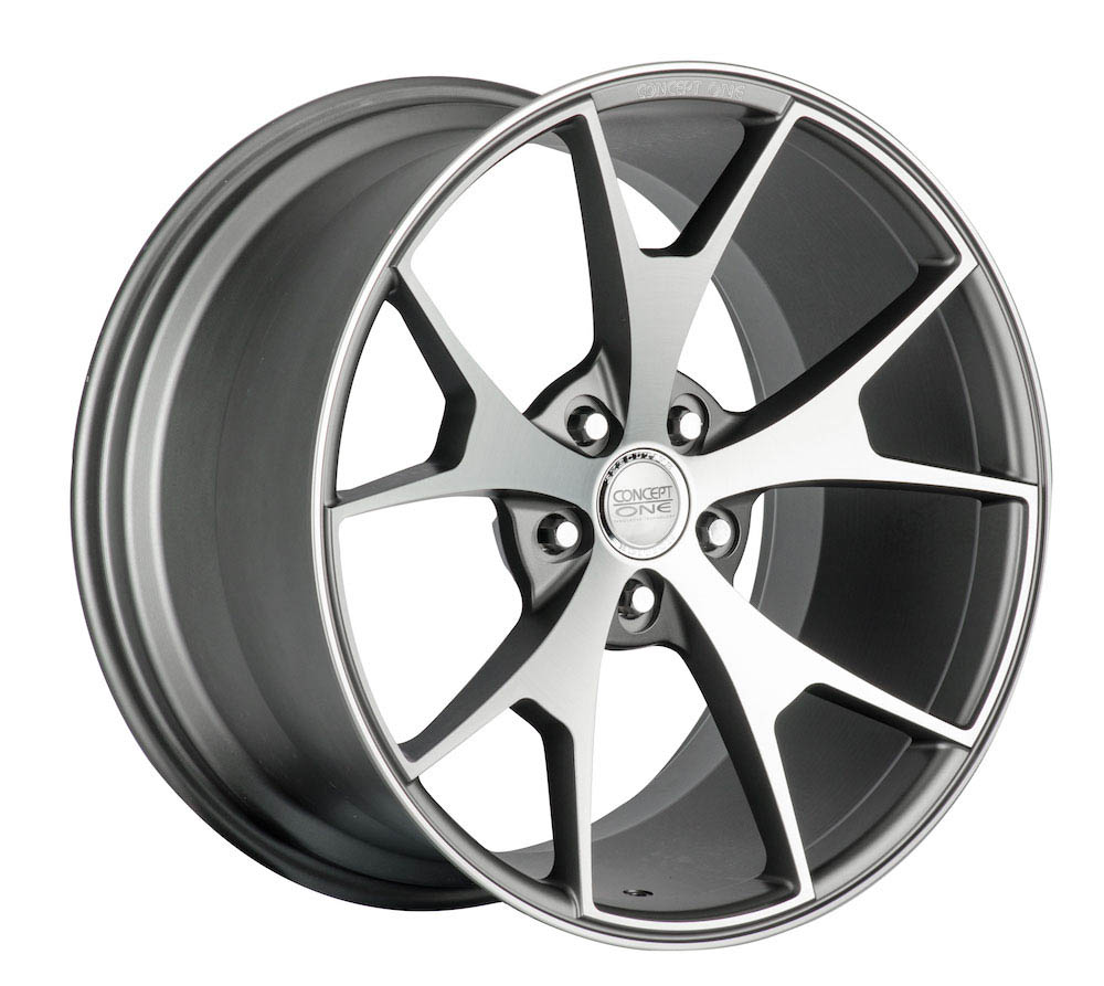 Concept One Wheels CSM5 Matte Gunmetal Machined 20x10-20x11 (15-20)