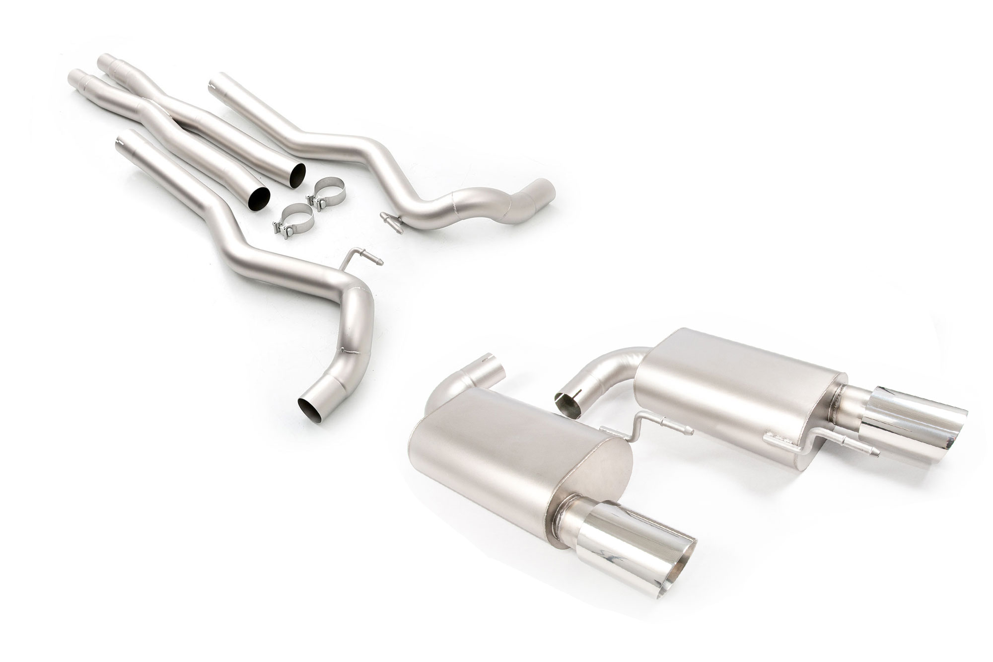 LTH Mustang GT Cat-Back Exhaust, Polished Tips (2015-2017)