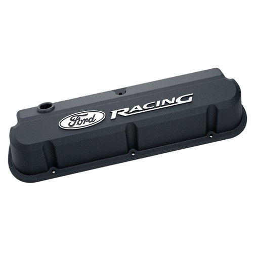 Valve Covers Ford SB Slant Edge Black - Pair