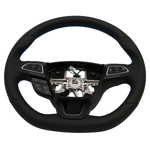 Ford Performance Focus RS Black Steering Wheel w/ Blue Stitching (2015-2018 ST)