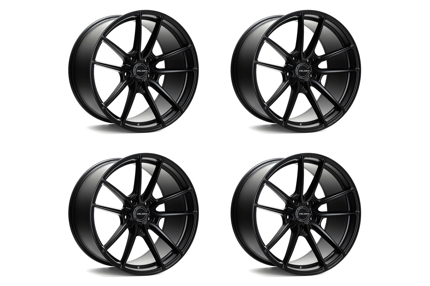 Velgen Wheels Mustang VF5 Satin Black Staggered Wheel Package - 20x10/11 (2005-2021)