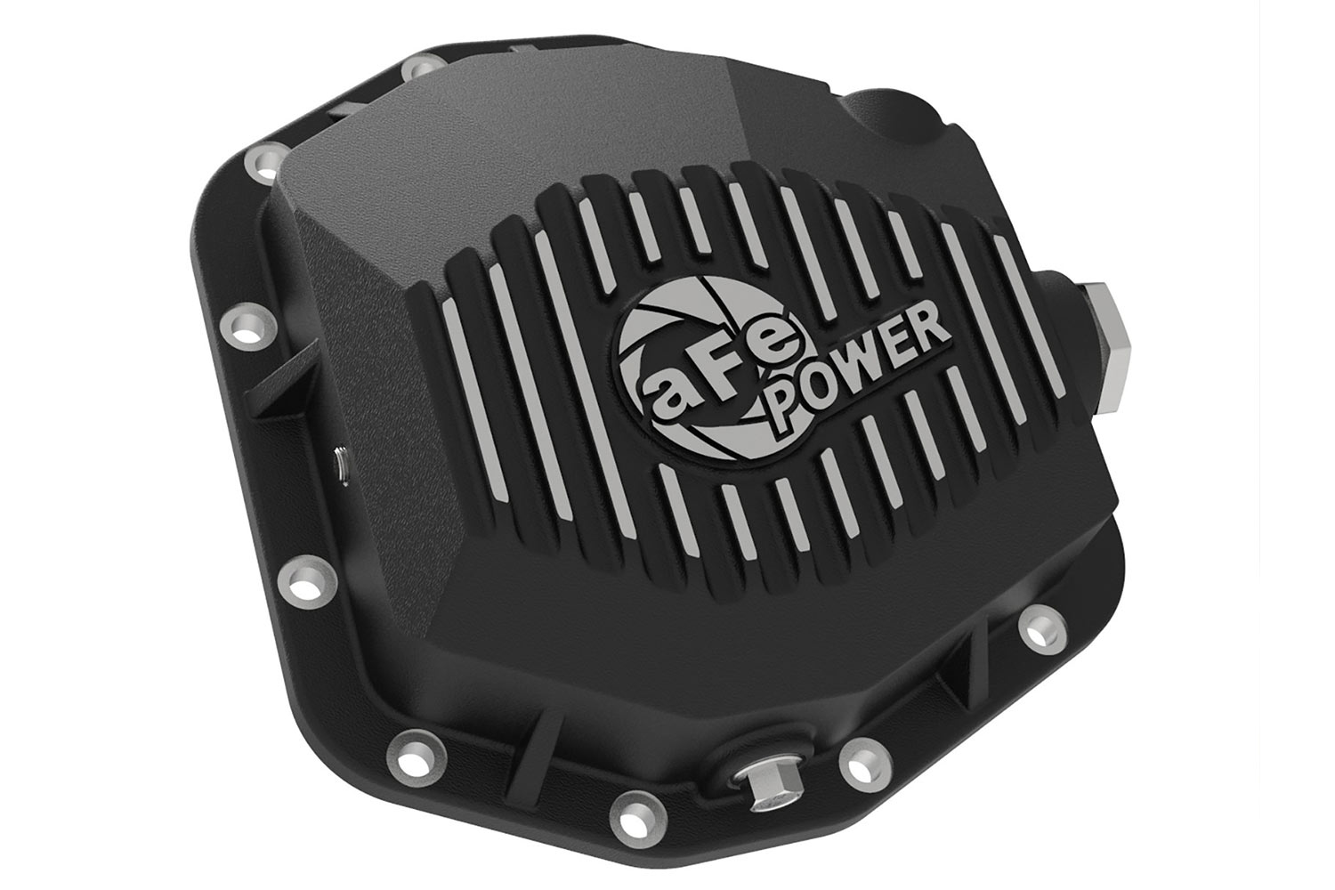 aFe Ranger Rear Differential Cover Black Street Series w/ Machined Fins (2019)