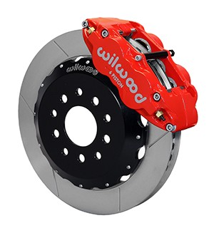 Wilwood Mustang Superlite 6R Front Brake Kit w/ 13 in. Slotted Rotors - Red (2005-2014 All)